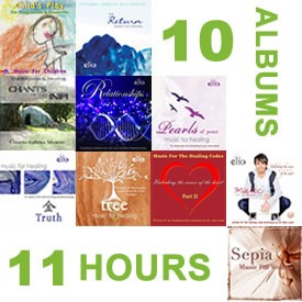 10 MP3 Albums 11 Hrs of Healing & Relaxation Music 528Hz